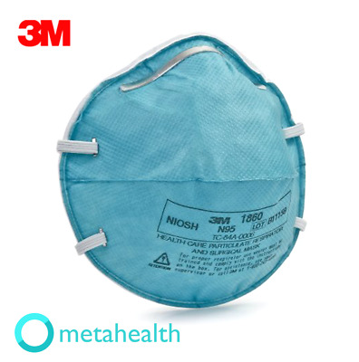 3M 1860 N95 Particulate Respirator & Surgical Mask ( Single Mask Pack - Sealed )