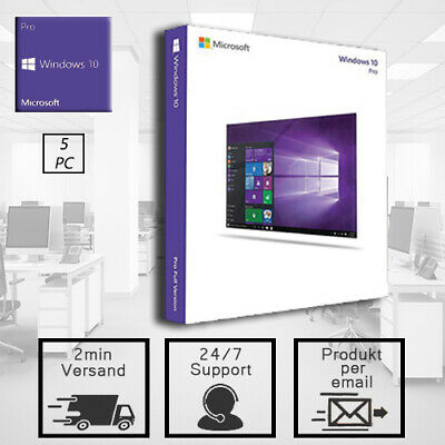 Windows 10 Professional - Win 10 Pro 1/5PC - 32&64 Bits - Versand per Email