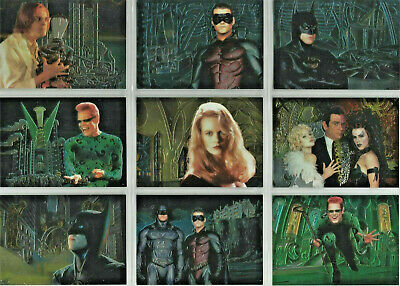 Batman Forever - Animaction - Complete 10 Card Chase SET - 1995 Fleer Ultra - NM