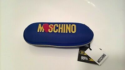 MOSCHINO Royal Blue Compact Umbrella With Zip Up Case BNWT