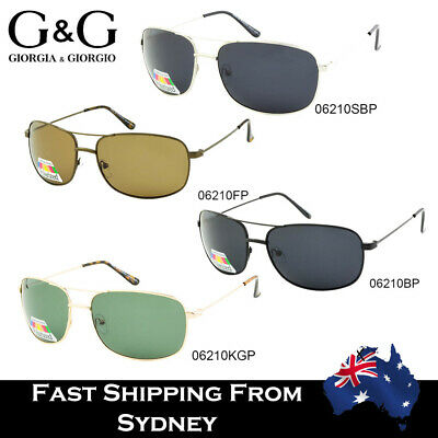 Mens Metal Polarized Sunglasses Classic Design Driving Bushwalking Fishing