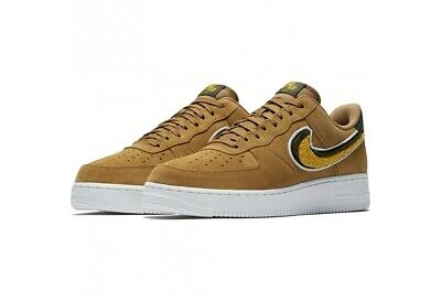 Details about Mens Nike Air Force 1 07 LV8 Suede Sand Yellow Brown 823511 204 UK 9.5_10.5_12
