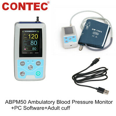 ABPM50 NIBP Monitor Contec 24Hr Ambulatory Blood Pressure Monitor + software FDA