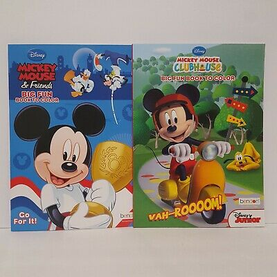 Disney Mickey Mouse & Friends Activity and Coloring Books Set of 2