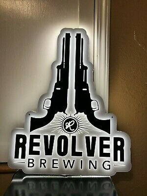 Revolver Brewing Company Led Beer Bar Sign Man Cave Light Up Decoration