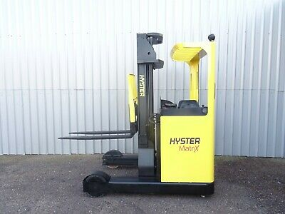 HYSTER R2.0. 5500mm LIFT USED REACH FORKLIFT TRUCK. (#2732)