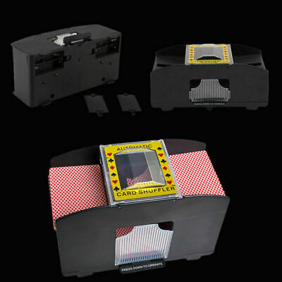 New Automatic Playing Card Shuffler Poker Deck Sorter Retro Casino Machine UK