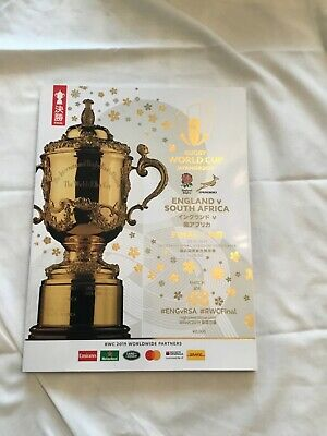 2019 RUGBY WORLD CUP FINAL OFFICIAL PROGRAMME  ENGLAND  v  SOUTH AFRICA