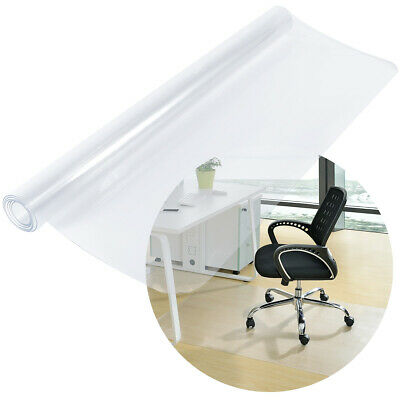 1.2m Square Frosted Hard Floor Protector Mat Office Chair PVC Plastic Non Slip