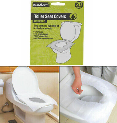 20pk Summit Disposable Paper Toilet Seat Cover Flushable Hygienic Health Camping