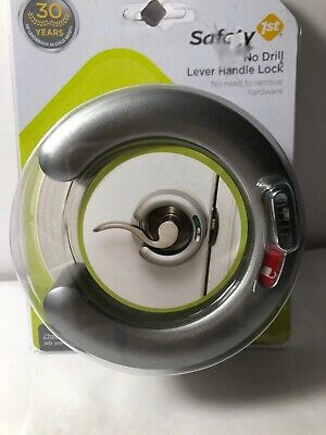 Safety 1st No Drill Lever Handle Lock - Silver (G)