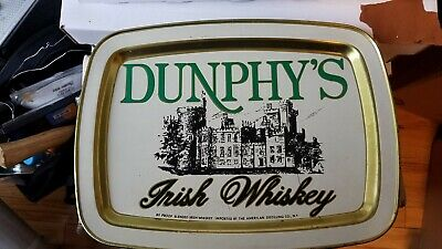 Dunphy's Vintage And EXTREMELY Rare Irish Whisky Serving Tray