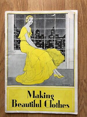 1920s Making Beautiful Clothes Rare Woman's Institute Millinery Art Deco Fashion