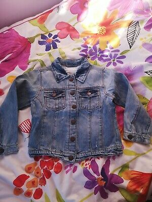 Next Girls Denim washed blue Jacket Age 5-6