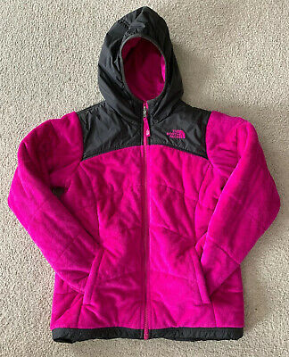 THE NORTH FACE PERSEUS Girls' Large (14/16) Pink Gray Reversible Hooded Jacket