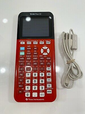 Texas Instruments TI-84 Plus CE Graphing Calculator - Red - FREE SHIPPING!