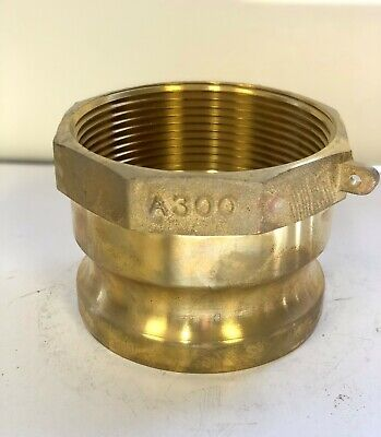 """Brass Camlock Fitting 3"""" Female Pipe Thread x 3"""" Male Adapter"""