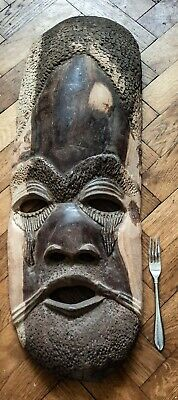 Outstanding Tribal Heavy Hardwood very large Mask --  African Carved Antique