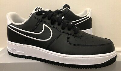 NIKE AIR FORCE 1 '07 Lthr Black White Uk6 Us7 Eur40 Aj7280