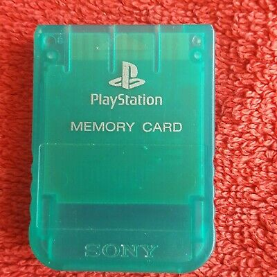 Crystal Green Sony Playstation Official 1Mb Memory Card Sony Ps1