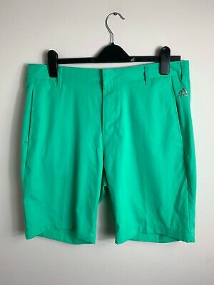 Mens Adidas Tailored Golf Shorts 3 Stripes Green Size 34' Waist Large