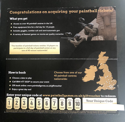 Paintball Tickets for 10 People Delta Force worth £100. Kids Hen Stag Parties.