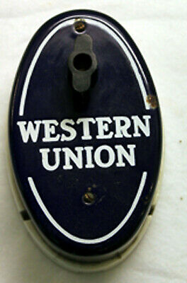 Antique Vintage Western Union Call Box Telephone Telegraph Advertising