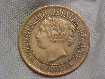 1859 CANADA 1C, Victoria Large One Cent, Reddish Brown Patina