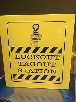 "BRADY LC252M Lockout Station, Unfilled, 16"" x 14""."