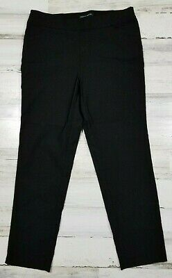 Counterparts Womens Pull On Black Stretch Trouser Career Pants Size 10 (b10)