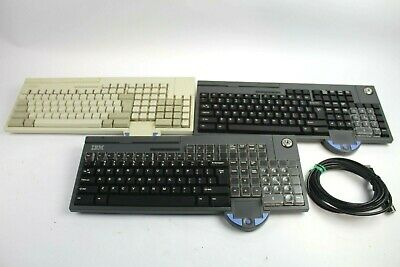 3 IBM POS Keyboards w/ Touchpad and Card Reader 65Y4601, 93Y1221 & 00DN101