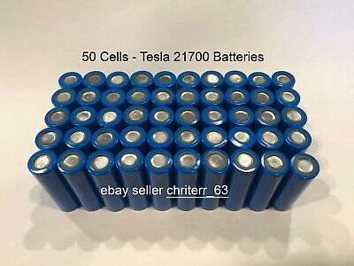 50 Tesla Model 3 Battery Cells 21700 / 2170 Battery with Insulator