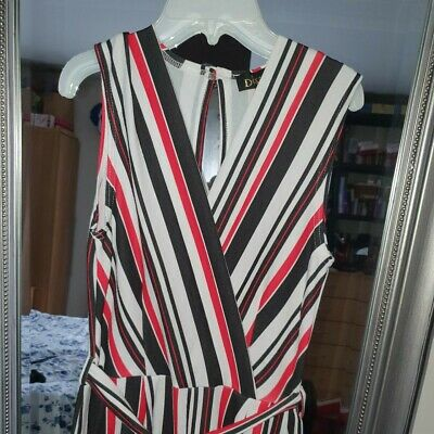 Diva White,Red &Black caloured sleevless jumpsuit with tags.Size 10
