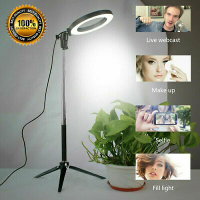LED Ring Light Dimmable 5500K Lamp Photography Camera Photo Studio Phone Video A