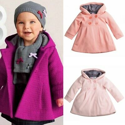 Baby Kids Infant Girls Autumn Winter Hooded Coat Jacket Thick Warm Clothes