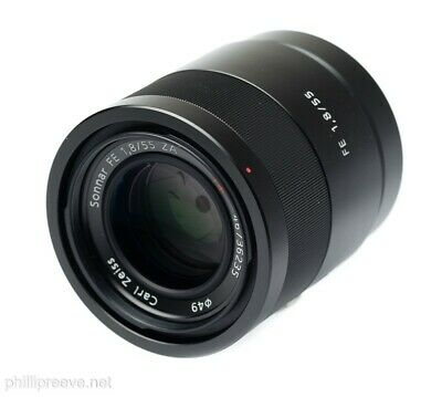 Superb Carl Zeiss Sonnar FE 55mm F1.8 ZA in Sony E Mount SEL55F18Z with Caps
