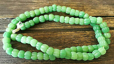 Highly collectible Antique Very Old! Naga Land JADE Stone Melon Glass Bead Bead