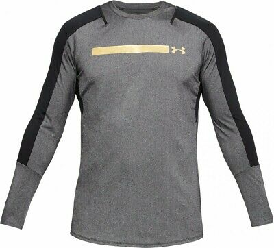 Under Armour UA Men's Perpetual Fitted Long Sleeve - Grey - New