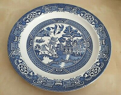 Willow Blue and White Patterned Plate Side Cake Fruit Serving Plates Tableware