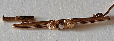 Barrette/épingle à cravate or 18 carats avec fermoir - TBE