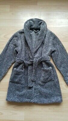 Childrens Grey Fluffy Dressing Gown. Age 4-5 Years. Matalan.