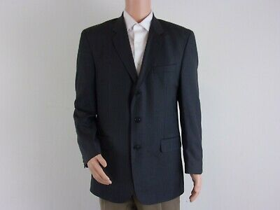 Calvin America WOOL 3-Button Suit Jacket     SIZE: 42R     GRAY Pinstripe