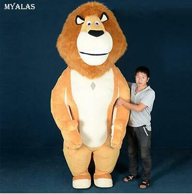2020 Hot Inflatable 2.6m Lion King Mascot Costume Cosplay Adult Party Game Dress