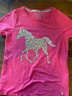 Joules Girls Sparkly Horse Too, 11-12, EUC