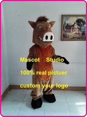 Pig Mascot Costume Cosplay Party Game Dress Outfit Advertising Halloween Fancy @