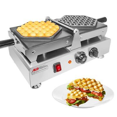 Bubble Waffle Maker | Swing Type Iron with Manual Thermostat | Nonstick Coating