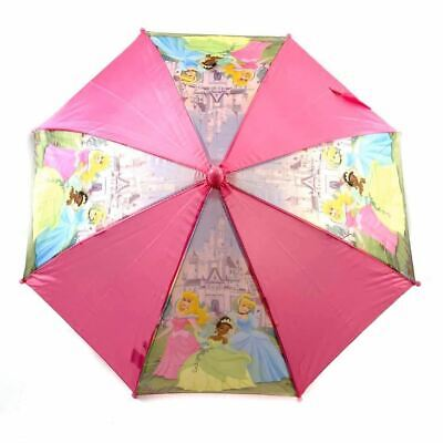 Disney Princess Pink Kids Umbrella Tangled Aurora Ariel 3D Cinderella Handle