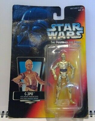 1995 Kenner Star Wars C-3PO  The Power of the Force MOSC C3PO see-threepio