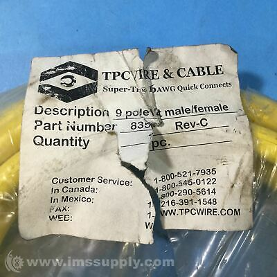 Tpc Wire & Cable 83591 Quick Connector Cable, 12 ft Cable USIP