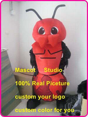 Ant Mascot Costume Cosplay Party Game Dress Outfit Advertising Halloween Fancy @